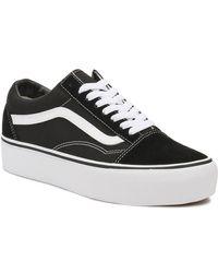 Vans Old Skool Platform Sneakers - Black