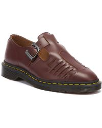 Dr. Martens Dr. Martens Mica Vintage Ox Blood Smooth Shoes - Brown