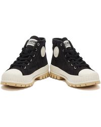 Palladium Pallashock Mid Og / White Boots - Black