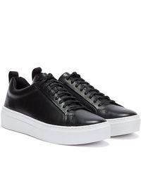 Vagabond Zoe Platform Leather Womens Black / White Trainers