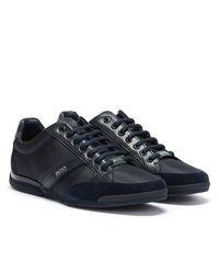 BOSS by HUGO BOSS Hugo Saturn Mix Low Marineblaue Sneakers