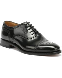Loake 201b Brogue Mens Black Shoes