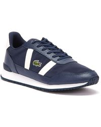Lacoste Partner 120 1 Mens Navy / White Sneakers - Blue