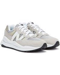 New Balance 57/40 / White Trainers - Grey