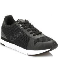 Calvin Klein Jeans - Mens Black Jaques Mesh Trainers - Lyst