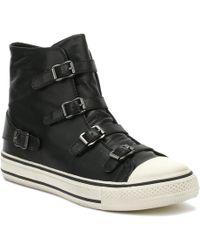 Ash Virgin Buckled High Top Sneakers - Black
