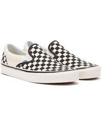 Vans Checkerboard Classic Slip-Ons - Schwarz