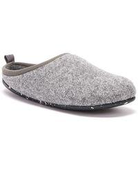 Camper Wabi Womens Gray Slippers