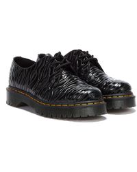 Dr. Martens Dr. Martens 1461 Bex Smooth Zebra Gloss Emboss Chaussuress Noir Pour