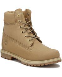 Timberland - Womens Bone Waterbuck Brown 6 Inch Premium Boots - Lyst