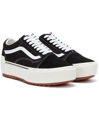 Vans Old Skool Stacked Baskets Noir / Blanc Pour