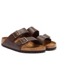 Birkenstock Brown Arizona Birko-flor Sandals