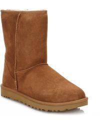UGG - UGG Womens Chestnut Classic Short Ii Sheepskin Boots - Lyst