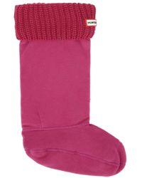 HUNTER - Pink Original Half Cardigan Boot Socks - Lyst