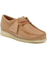 Clarks - Originals Womens Sandstone Wallabee Suede Shoes - Lyst