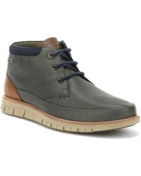 Barbour Nelson Boots Navy Blue