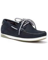 Timberland Atlantis Break Nubuck Boat Shoes - Blue
