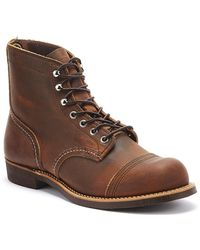 Red Wing Iron Ranger Mens Copper Boots - Brown