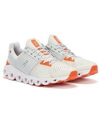 On Running Cloudswift Weiss / Orange Sneakers - Weiß