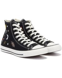 Converse All Star It's Ok To Wander Hi / White Sneakers - Black