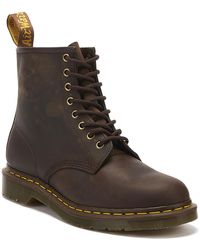 Dr. Martens Dr. Martens 1460 Crazy Horse Mens Gaucho Brown Leather Ankle Boots
