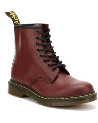 Dr. Martens Dr. Martens 1460 Smooth Womens Cherry Red Leather Boots