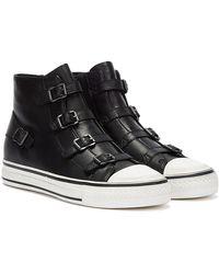 Ash Virgin Leather Schwarze Sneaker