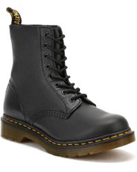 Dr. Martens - Dr. Martens Pascal Virginia Womens Black Leather Boots - Lyst
