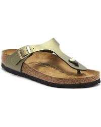 Birkenstock Gizeh Womens Icy Metallic Stone Gold Sandals