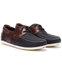 Barbour /brown Capstan Boat Shoes - Blue