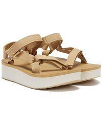 Teva Flatform Universal Sandales Beiges Pour - Neutre