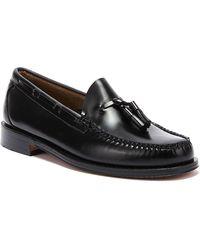 G.H.BASS G.h. Bass & Co. Weejuns Heritage Larkin Mens Black Tassel Loafers