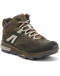 Merrell Zion Mid Gore -tex® Mens Dark Olive Boots - Green