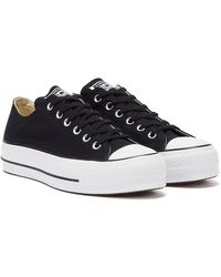Converse Ctas Lift Clean Ox Trainers - Black