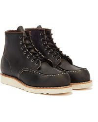 Red Wing Classic Moc Toe Charcoal Bottes - Noir