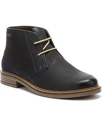 Barbour Readhead Mens Navy Boots - Blue