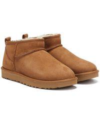 "UGG Boots ""Classic Ultra Mini"" - Braun"