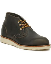 Red Wing Mens Charcoal Rough Work Chukka Boots - Gray