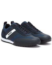 HUGO Matrix Low Mens Navy Sneakers - Blue