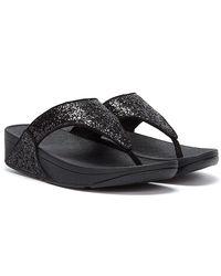 Fitflop Lulu Glitter Schwarze Flip Flops