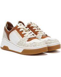 Michael Kors Lexi High Top Multi Sneakers - White