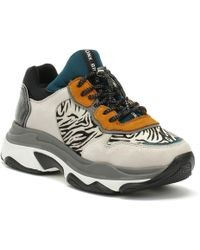 Bronx - Baisley Womens Light Grey / Zebra Chunky Trainers - Lyst