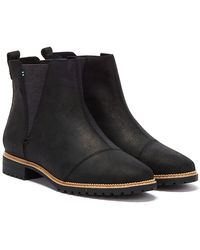 TOMS Cleo Boots - Black