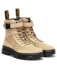 Dr. Martens Dr. Martens Combs Tech Canvas & Suede Beige Boots - Natural