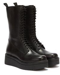 Vagabond Tara Lace Up Boots - Black