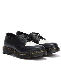 Dr. Martens Dr Marten 1461 Amore Milled Nappa Black White Shoes - Blue