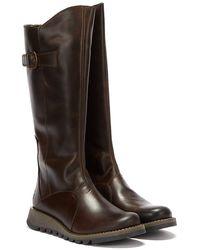 Fly London Mol 2 Rug Womens Dark Brown Boots