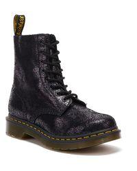 Dr. Martens Dr. Martens 1460 Pascal Crackle Womens Black Boots