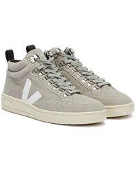 Veja Roraima Suede Grau / Weiss Sneakers