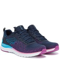 Skechers Ultra Groove Glamour Quest Womens Navy / Multi Trainers - Blue